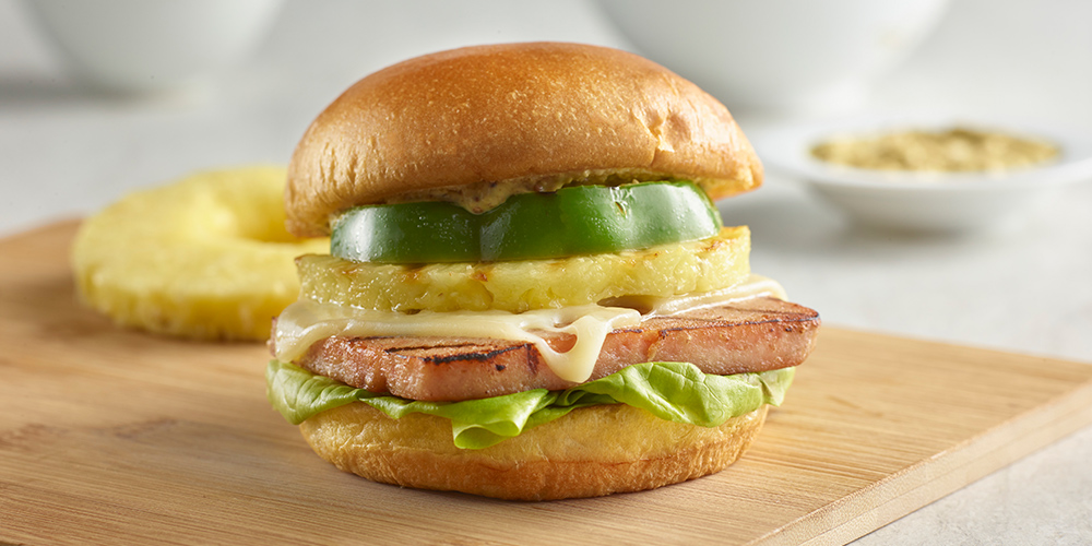 Hawaiian SPAMBURGER<sup>TM</sup> Hamburger