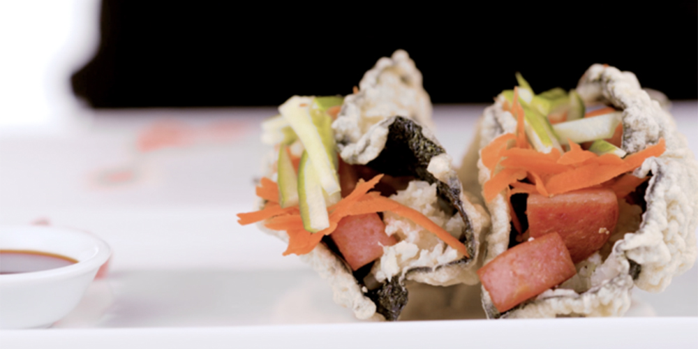 Cauliflower Rice SPAM® Musubi Tacos