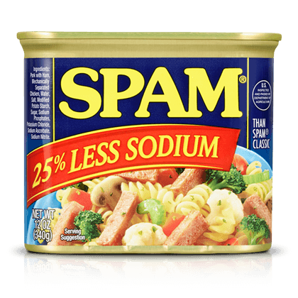 SPAM<sup>®</sup> Less Sodium