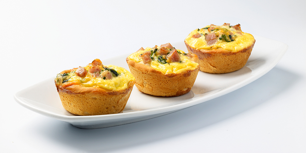 Quick and Easy SPAM® and Spinach Mini-Quiches