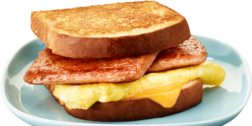 Simple Grilled Cheese and Egg SPAM® Sandwich