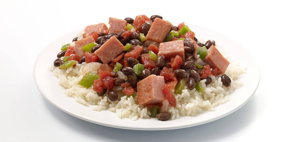 SPAM® and Black Beans with Rice