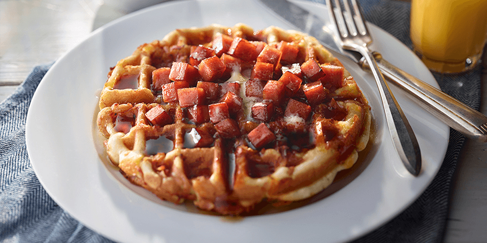 SPAM® Waffle with Cheese