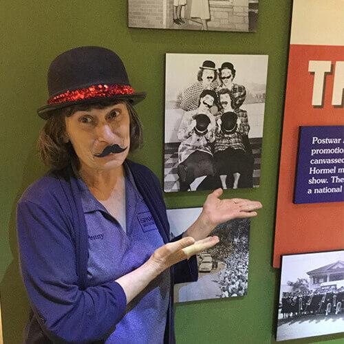 SPAMbassador Penny in SPAM museum.