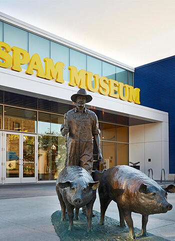 SPAM front of museum