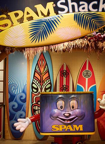 SPAM shack inside of museum