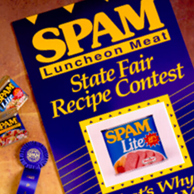 A flier for the SPAM State Fair Recipe Contest.