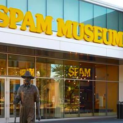 Exterior of new SPAM Museum in 2016.