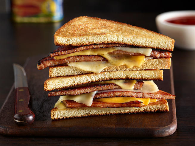 The 2-Step SPAM® Grilled Cheese