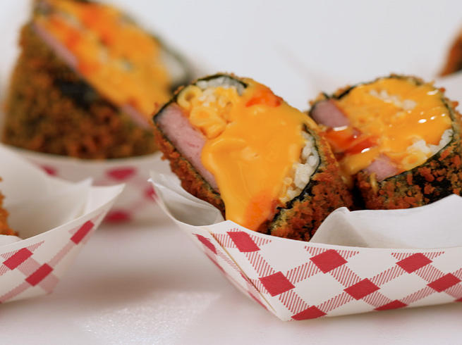 Mac 'n' Cheese Musubi