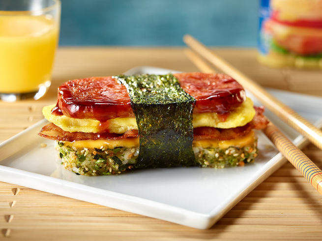 SPAM® Breakfast Musubi