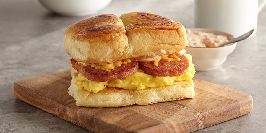 SPAM® Egg and Cheese Breakfast Sandwich